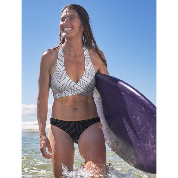 ddaf914d7401c Athleta Swim | Chevron Reversible Wrap Bikini Top Bottoms | Poshmark